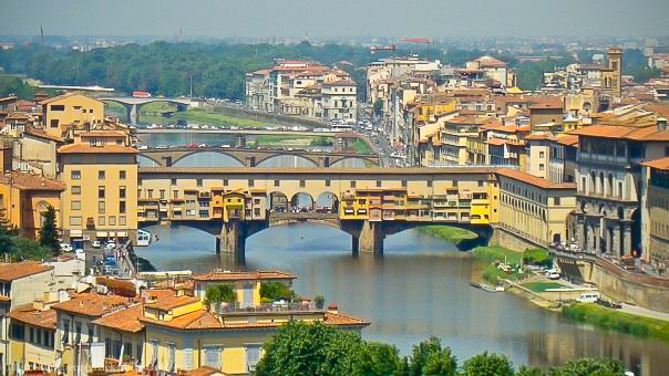Ponte Vecchio Overlooking the Arno River