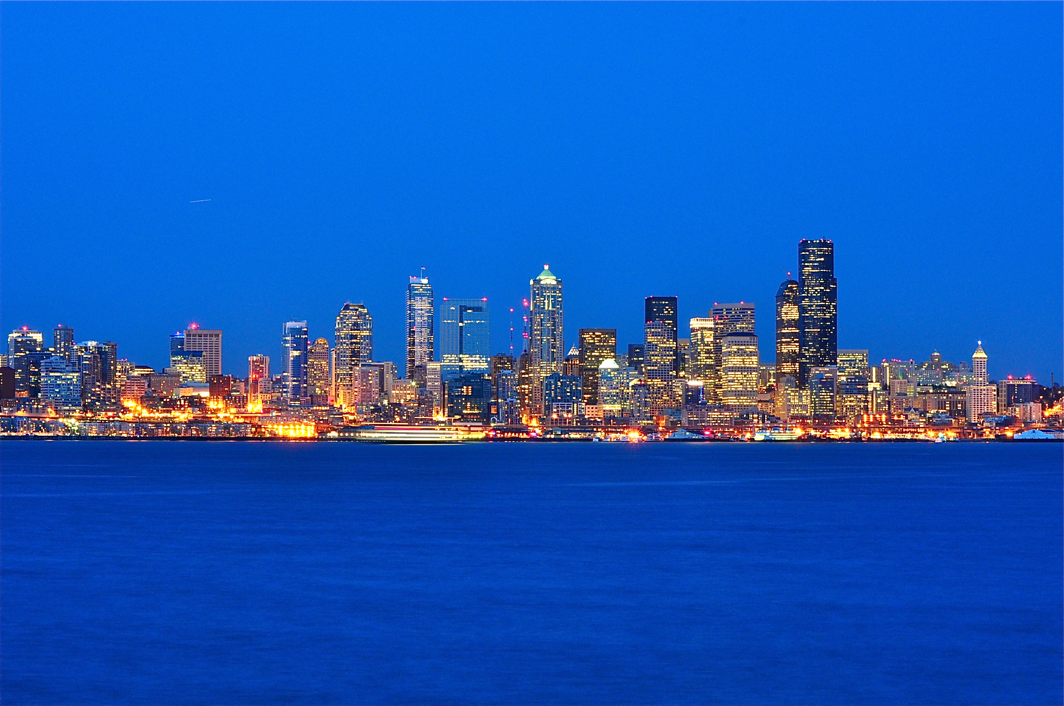Seattle Skyline at Night From