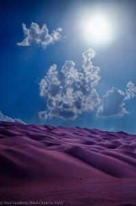Shaybah Sun over Sand Dunes