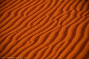 Shaybah Wavy Sand Dunes Close Up