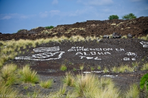 Rock Graffiti Along Queen Ka'ahumanu Hwy