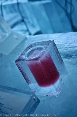 Cranberry Vodka at the IceBar Stockholm