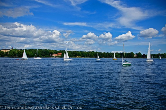 Sailboats on Saltsjön
