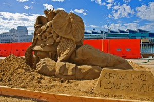 Crawling Flowers For Peace Sand Sculpture