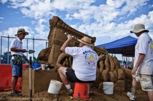 Guys Sculpting Sand