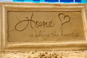 Home Is Where The Heart Is Sand Sculpture