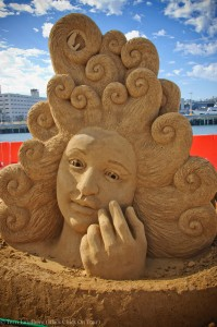 Water Wave Hair Sand Sculpture