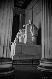 B&W The Lincoln Memorial