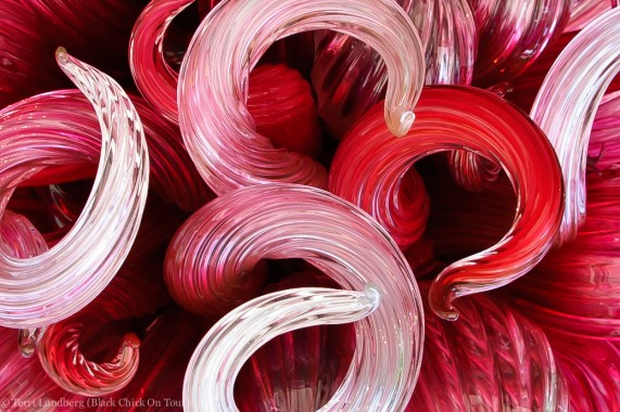 Chihuly Pink Chandelier Close Up