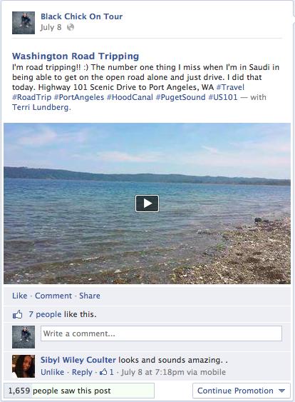 WA Road Trip Facebook Potlatch State Park Video Screen Shot