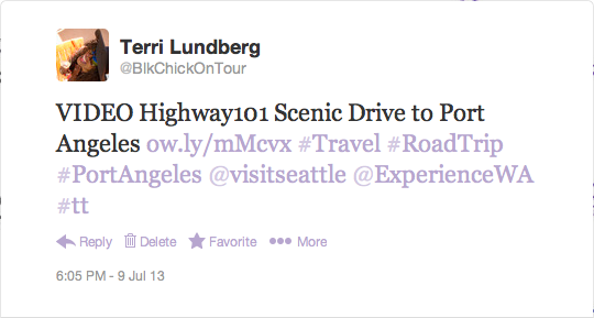 WA Road Trip Highway 101 Video Tweet