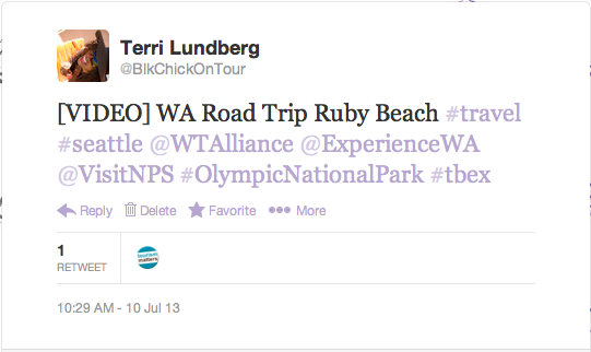 WA Road Trip Ruby Beach Video Tweet