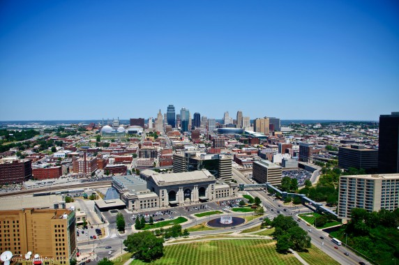 The City of Kansas City from the observation deck at the WWI Museum