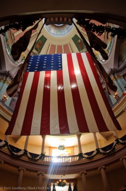 US Flag in the Old Courthouse
