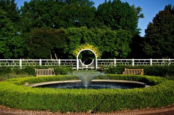 Fountain Gladney Rose Garden