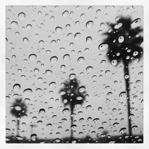 Rainy days in San Diego.