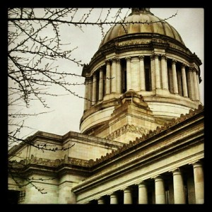 The Washington State Capitol Legislative Building in Olympia.