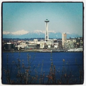 The Space Needle from Hamilton Viewpoint Park.