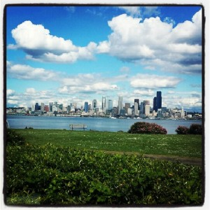 The gorgeous Seattle skyline.