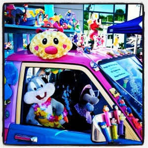 Decorated cartoon car at the Fremont Solstice Festival