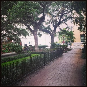 Oglethorpe Square in Savannah, GA