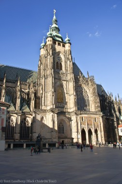 III Courtyard. The entrance to Cathedral of St Vitus at Prague Castle