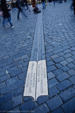 Prague Meridian in Old Town Square