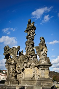 St Charles Bridge Madonna and St Bernard Statue