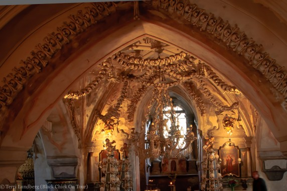 The Bone Church Ceiling and Chandelier