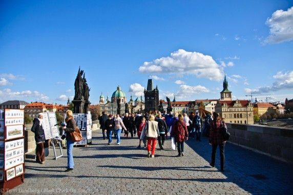 Walking St Charles Bridge