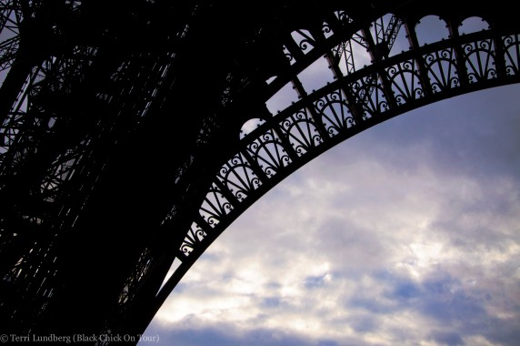 The intricate details of the Eiffel Tower